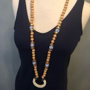 Jewelry - NWT Michelle McDowell wood beaded necklace